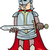 knight with sword cartoon illustration stock photo © izakowski