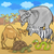 african safari animals cartoon illustration stock photo © izakowski