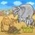 Cute · Африканский · слон · Cartoon · иллюстрация · серый · улыбка - Сток-фото © izakowski