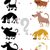 sombra · tarea · perros · Cartoon · ilustración - foto stock © izakowski