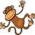 majom · karakter · rajz · illusztráció · szafari · aranyos - stock fotó © izakowski