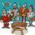 knights of the round table cartoon stock photo © izakowski