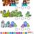 juego · plantilla · juego · dragón · príncipe · ilustración - foto stock © izakowski