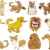 cartoon dogs set stock photo © izakowski
