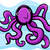 cartoon · illustratie · cute · octopus · doodle · Blauw - stockfoto © izakowski