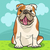 english bulldog dog cartoon illustration stock photo © izakowski