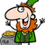 happy leprechaun cartoon illustration stock photo © izakowski