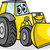 rajz · buldózer · karakter · építkezés · jármű · rajzfilmfigura - stock fotó © izakowski