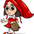 little red riding hood cartoon stock photo © izakowski