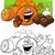 oranges and chocolate for coloring stock photo © izakowski