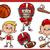 americano · fútbol · pelota · jugador · Cartoon · imagen - foto stock © izakowski