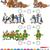 número · dez · 10 · cães · desenho · animado · ilustração - foto stock © izakowski