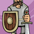 knight in armor cartoon illustration stock photo © izakowski