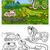livre · de · coloriage · conte · de · fées · grenouille · sourire · livre · feuille - photo stock © izakowski