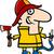 fireman cartoon illustration stock photo © izakowski
