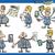 businessmen cartoon set stock photo © izakowski