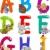 alfabeto · tenha · desenho · animado · papel · escolas · estudante - foto stock © izakowski