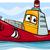 maskotka · statek · towarowy · ilustracja · sztuki · statku - zdjęcia stock © izakowski
