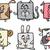 grappig · boerderijdieren · huisdieren · vector · cartoon · geïsoleerd - stockfoto © izakowski
