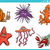 sea life animals set cartoon illustration stock photo © izakowski