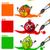 primary colors with cartoon fruits stock photo © izakowski