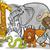африканских · Safari · Cartoon · иллюстрация · смешные - Сток-фото © izakowski
