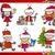 santa and christmas cartoon set stock photo © izakowski
