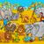 cute · africaine · Safari · animaux · cartoon · scène - photo stock © izakowski