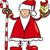 kerstman · mascotte · cartoon · glimlach · gelukkig · medische - stockfoto © izakowski