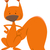 karikatür · örnek · kırmızı · sincap · sevimli · kemirgen - stok fotoğraf © izakowski
