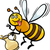 honey bee insect cartoon illustration stock photo © izakowski