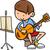 música · nota · mascota · partitura · notas · hombre - foto stock © izakowski