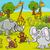 safari animals cartoon illustration stock photo © izakowski