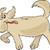 beige · hond · cartoon · illustratie - stockfoto © izakowski
