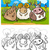 cartoon farm animals coloring page stock photo © izakowski
