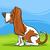 sabueso · ilustración · raza · perro · arte · cachorro - foto stock © izakowski