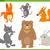 милые · животные · Cartoon · набор · иллюстрация · смешные · животного - Сток-фото © izakowski