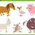cute farm animal characters set stock photo © izakowski