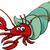 caranguejo · arte · bocado · concha · marinha - foto stock © izakowski