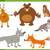 happy wild animal characters set stock photo © izakowski