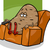 divano · patate · felice · cartoon · tv - foto d'archivio © izakowski