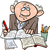 komische · cartoon · hoogleraar · retro · stijl - stockfoto © izakowski