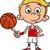 rajz · fiú · kosárlabda · illusztráció · játszik · gyerekek - stock fotó © izakowski