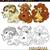 фантазий · животные · книжка-раскраска · страница · Cartoon - Сток-фото © izakowski