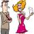 aranyos · nő · rajz · mobiltelefon · technológia · jókedv - stock fotó © izakowski
