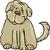 shaggy terrier dog cartoon illustration stock photo © izakowski