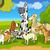 purebred dogs group cartoon illustration stock photo © izakowski