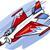 desenho · animado · lutador · avião · vetor · eps10 · formato - foto stock © izakowski