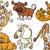 cute · zwierzęta · zestaw · cartoon · ilustracja · zwierząt - zdjęcia stock © izakowski
