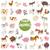farm animal characters big set stock photo © izakowski
